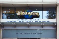 Construção de Universal Music Fotos de Stock Royalty Free