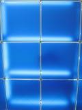Construção de vidro azul abstrata, frames quadrados, Fotos de Stock Royalty Free