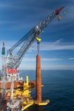 Construção de Windfarm Fotografia de Stock