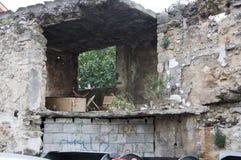 Construção destruída foto de stock