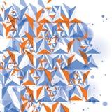 Construção digital moderna, sagacidade dimensional abstrata do fundo ilustração royalty free