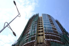 Construção do ícone em Kinshasa, sob a construção Foto de Stock Royalty Free