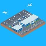 A construção do aeroporto ilustração stock