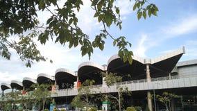 Construção do aeroporto internacional de Kuching fotos de stock