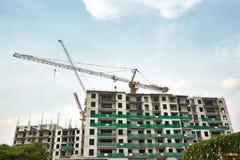 Construção do apartamento em andamento Fotografia de Stock Royalty Free
