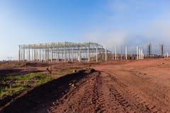 Construção do armazém da construção Fotografia de Stock