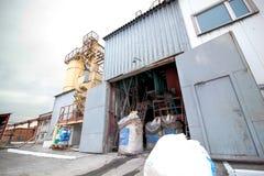 Construção do armazém da fábrica Fotografia de Stock