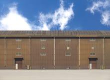 Construção do armazém na zona da fábrica Fotografia de Stock