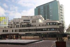 Construção do arquivo nacional no centro de cidade de Den Haag nos Países Baixos fotografia de stock royalty free