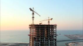 Construção do arranha-céus. Lapso de tempo video estoque
