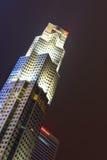 A construção do banco ultramarino unido limitou matrizes em Singapo Fotografia de Stock