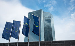 Construção do BCE do Banco Central Europeu em Francoforte Fotografia de Stock