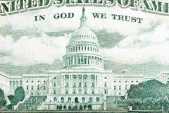 A construção do Capitólio como descrita no U S nota de dólar 50 Imagens de Stock Royalty Free
