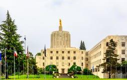 Construção do Capitólio do estado de Oregon fotografia de stock royalty free