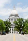 Construção do Capitólio do estado de Wisconsin Imagem de Stock