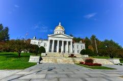 A construção do Capitólio do estado em Montpelier Vermont, EUA fotografia de stock