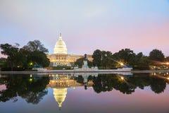Construção do Capitólio do Estados Unidos em Washington, C.C. Fotografia de Stock Royalty Free