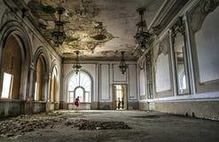 Construção do casino, Constanta, Romênia foto de stock royalty free