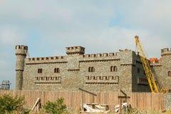 Construção do castelo novo Imagens de Stock Royalty Free
