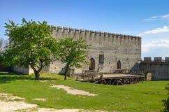 A construção do castelo real em Szydlow, Polônia foto de stock