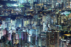 Construção do centro aglomerada em Hong Kong Imagem de Stock