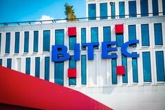 Construção do centro de comércio internacional e de exposição de BITEC Banguecoque, Tailândia foto de stock royalty free