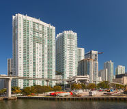 Construção do centro de Miami Florida Fotografia de Stock