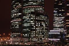 Centro de negócios internacional novo em Moscovo Foto de Stock Royalty Free