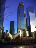 Construção do centro de New York City foto de stock royalty free
