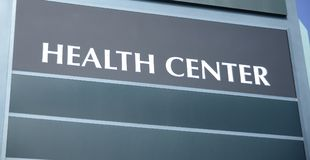 Construção do centro de saúde Fotografia de Stock