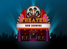 Construção do cinema do teatro imagem de stock