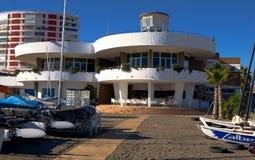 Construção do clube da navigação, Torre Del Mar, Espanha Fotografia de Stock Royalty Free