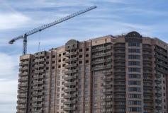 Construção do complexo residencial foto de stock