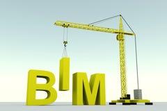 Construção do conceito de BIM Fotos de Stock