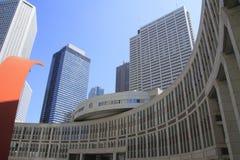 Construção do conjunto metropolitano do Tóquio em Shinjuku, Japão imagens de stock
