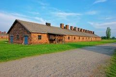 Construção do crematório no campo de concentração Auschwitz Birkenau foto de stock
