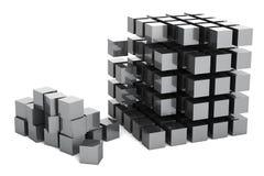 Construção do cubo Imagem de Stock