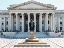 A construção do departamento da Tesouraria, EUA Fotografia de Stock Royalty Free