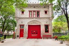 Construção do departamento dos bombeiros em Chicago do centro Foto de Stock