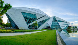 Construção do diamante dos BU na universidade de Banguecoque Fotos de Stock