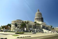 Construção do EL Capitolio Nacional - Havana, Cuba fotos de stock