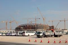 Construção do estádio em Catar Imagens de Stock Royalty Free