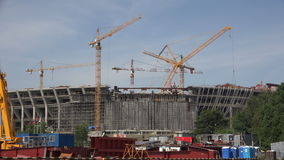 A construção do estádio em St Petersburg 4K vídeos de arquivo