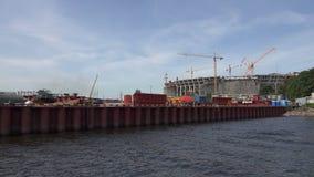 A construção do estádio em St Petersburg 4K filme