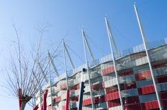 Construção do estádio nacional em Varsóvia, Polônia Imagem de Stock Royalty Free