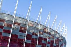 Construção do estádio nacional em Varsóvia, Polônia Foto de Stock