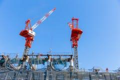 Construção do estádio olímpico do esporte do Tóquio em Kasumigaoka imagens de stock royalty free