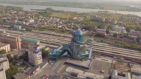 Construção do estação de caminhos-de-ferro video estoque