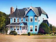 Construção do estilo da arquitetura vitoriano Fotos de Stock Royalty Free