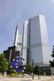 Construção do Euro de Francoforte, Alemanha Fotografia de Stock Royalty Free